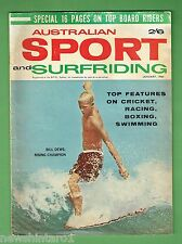 #D172. AUSTRALIAN SPORT AND SURFRIDING MAGAZINE, JANUARY 1964