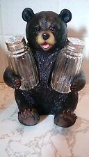 Beary Seasoned Bear holding a salt and pepper shaker
