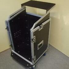 Laptop-Kombicase 14/10 HE Notebook Winkelrack LS-5 DJ-Workstation m. Blue Wheels