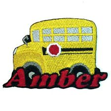 Iron-on School Bus Patch With Name Personalized Free