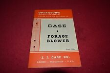 Case Tractor Forage Blower Operator's Manual DCPA