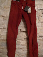 DSQUARED2 100%AUTHENTIC SEXY BRICK CORDUROY LOW RISE JEANS ITALY SIZE 44 / US 30