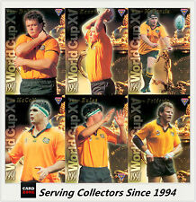 "1995 Australia Rugby Union Trading Cards WORLD CUP XV  ""SAMPLE"" Set (15)--RARE!"
