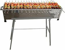 "32"" Stainless Steel Shish Kebab Grill w/Stand & 20 Stainless Skewers"