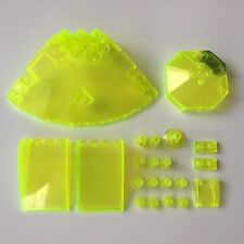 GENUINE LEGO SPACE SHIP PARTS UFO MIXED PARTS NEON GREEN JOB LOT BUNDLE