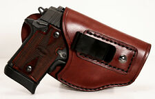 Sig Sauer P938 P238 with Crimson Trace Laser Handmade Leather Conceal Holster