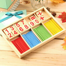 Math Manipulatives Wooden Counting Sticks Kids Preschool Educational Toys SY
