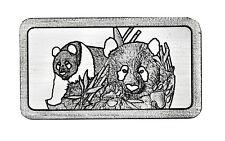 China Panda 1 Gramm 999 Silber Silberbarren Brandenburger Tor Berlin in Kapsel