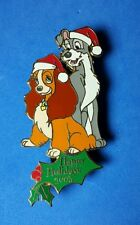 Lady and The Tramp Happy Holidays Disney Auctions Christmas Pin LE 100 RARE