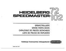 Heidelberg Speed Master 72 102 Parts Manual (013)