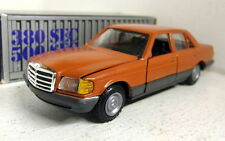 NZG 1/35 Scale Mercedes Benz 500 SEL Orange / red diecast model car