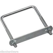 """5 Pk Steel 3/8"""" Dia 4"""" W X 5"""" L  Square U Bolt U Clamp W/Nuts  N222398"""