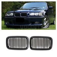Matte Black Front Kidney Hood Grille Grill For BMW E36 318/328/328 1992-1996