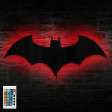 Batman Logo Mirror Plus Batman Eclipse Light Remote Controlled LED Wall Light