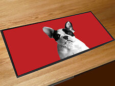 French Bulldog red bar runner counter mat Pubs Clubs & Cocktail Bars
