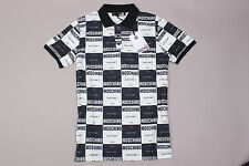 Brand New Black/White Moschino Short Sleeve Polo T-Shirt Size-S
