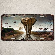 LP0161 Old Vintage Road Elephant Sign Auto License Plate Home Store Gift Decor