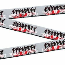 20ft Beware Zombies Fright Tape Halloween Warning Crime Scene Party Decoration