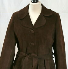 Manteau rétro en daim marron t. 40/42