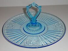 Blue Mayfair Open Rose Sandwich Server Center Handle
