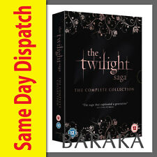 The Twilight Saga New Moon Eclipse Breaking Dawn Part 1 & 2 Complete DVD box set