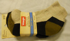 Wrangler Boys Socks Shoe Sz M 9-2.5 Ankle Outdoors Khaki 2-Pairs New
