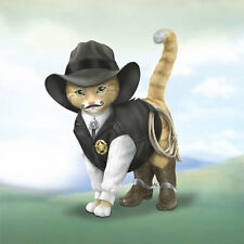 Kitty S Purr Cowboy Sheriff Cat Figurine Spurs N Fur Kitty Bradford Exchange