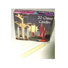 Biedermann & Sons Chime Candles, Box of 20, Ivory (C1123IV)