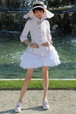 CHANEL 13C 2013 resort pink jacket coat tweed ruffle think pink! 34