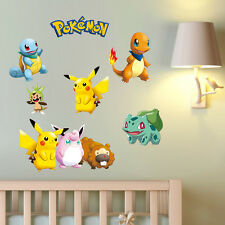 Pokemon Pikachu Charmander 7 Wall Sticker REUSABLE Vinyl Decal Sticker Character