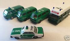 HERPA POLICE VEHICLE GROUP - 5 VEHICLES - HO SCALE (1:87)