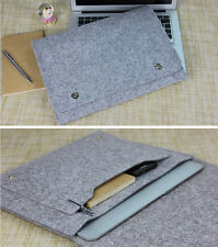 "13""13.3"" Felt Cover Laptop Sleeve Case Bag Notebook PC Pouch For Macbook Pro Air"