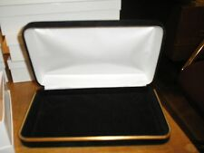 NEW HIGH QULAITY BLACK VELVET JEWELRY BOX  PEARLS, NECKLACE, PENDANT