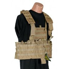CONDOR MOLLE Modular Nylon Chest Set Tactical Mag Holder Vest Rig cs- COYOTE TAN
