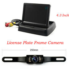 With 4.3 Inch HD LCD Display Monitor Waterproof CMD Rearview 7 LED Backup Camera