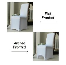 Wedding Chair Covers For Sale, Lycra Spandex, Arched Flat, Party Decor, 1-100pcs