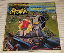 BATMAN n ROBIN - ORIGINAL TV SOUNDTRACK  1966 20TH CENT FOX LP TFM 3180 MONAURAL