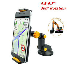 "360° Rotation Excavator Style Mobile Phone Ipad GPS Mount Holder 4.5-9.7"" In-Car"