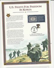 U.S. Fights For Freedom In Korea 4 Panels Ret. $33.00 (LR756)