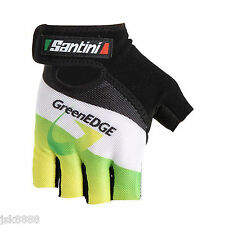 GreenEDGE TEAM CYCLING GLOVES SIZE XS MADE IN ITALY BY SANTINI NEW WITH TAGS