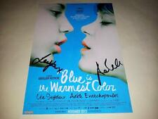 "BLUE IS THE WARMEST COLOR PP SIGNED 12""X8"" POSTER LEA SEYDOUX LA VIE D'ADELE"