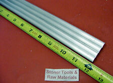 "4 Pieces 3/8"" ALUMINUM 6061 ROUND ROD 12"" long T6511 .375 Solid Lathe Bar Stock"