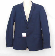 ZARA Man Essential Navy Blue Slim Fit Sport Coat Jacket Suit Blazer-Size 42-NEW