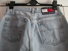 Vtg 90's Tommy Hilfiger Womens Size 10 Bleached Old School High Waist Mom Jeans