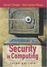 Security in Computing, Good Condition Book, Pfleeger, Shari Lawrence, Pfleeger,