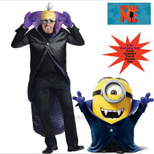 Adult Minions Men Vampire Costume Dracula Halloween Despicable Me S: M
