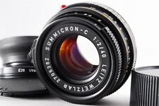 EXC+++++ Leitz Wetzlar Summicron-C 40mm f/2 Leica M +Hood +Filter from Japan#l14