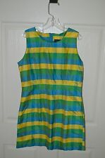 Girls THE HOP SCOTCH Shop Bl/Y/Gr 100% Silk Sleeveless Dress Size 8 NWT