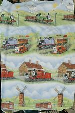 2 Piece Lot Thomas The Tank Engine Twin Size Duvet Cover & Coverlet Vintage RARE