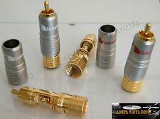 4 FICHES  RCA NAKAMICHI  GOLD 24K SANS SOUDURE GROS CABLE